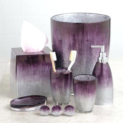 Lavendel Badezimmer Dekor Deko Purple Amazon Duschvorhang