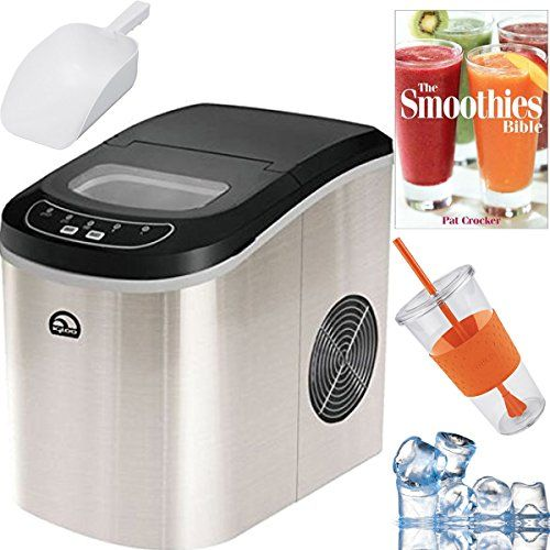Igloo Compact Portable Ice Maker Stainless Steel Plus Smoothie