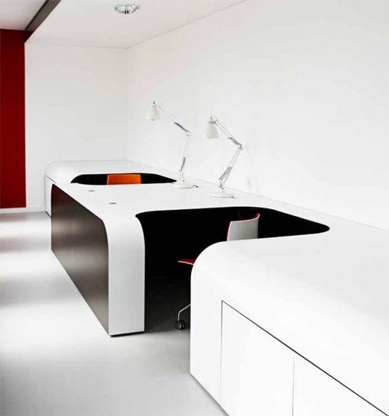 Futuristic Office Desk Interior | Futuristic Designs | Pinterest | Office  desks, Desks and Interiors