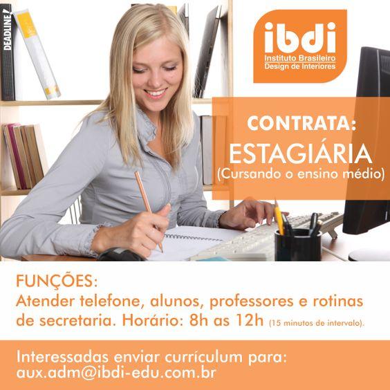 Venha fazer parte da nossa equipe! A vaga é para a unidade de Balneário Camboriú, Santa Catarina, Brasil! #IBDI #contrata #vaga