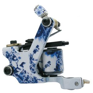 Blue and White Porcelain Art Tattoo Machine Gun