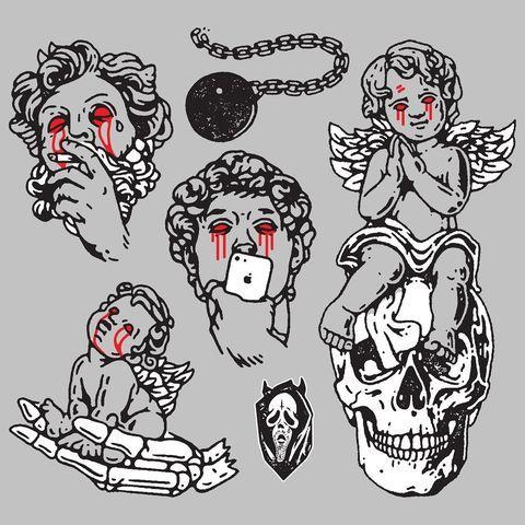Hdxny Dclxvi Hdxny Instagram Photos And Videos In 2021 Samurai Tattoo Design Tattoo Flash Art Tattoo Graphic