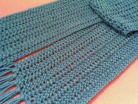 Encantos e Pontos: Cachecol em tricô