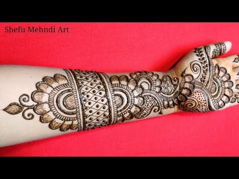 full hand mehndi design simple arabic