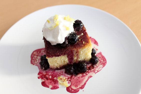 classic olive oil cake with blueberry