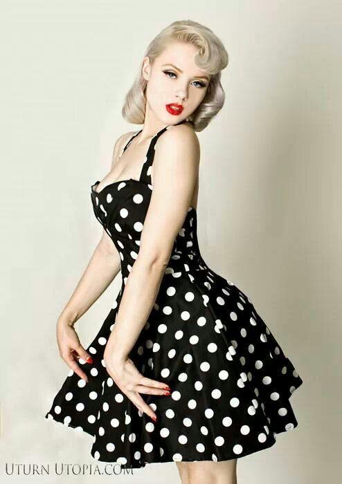 Polka Dot dress. #PinUp style.   Theme shoots   Pinterest   Style ...
