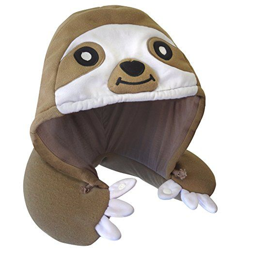 Hooded sloth neck pillow