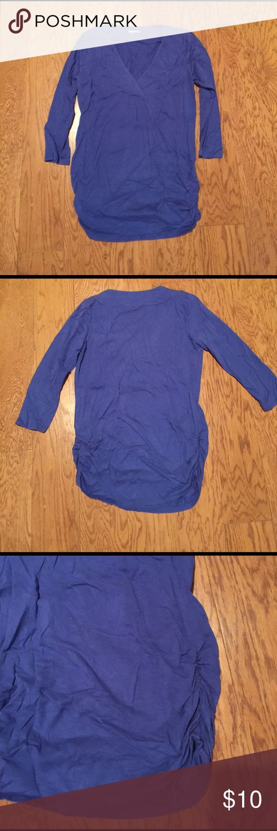 Gap Maternity V-Neck shirt Great condition. Size small. Gap Maternity V-Neck 3/4 sleeve shirt. Dark purple. Rouching on the sides. Very comfy and cute. GAP Maternity Tops