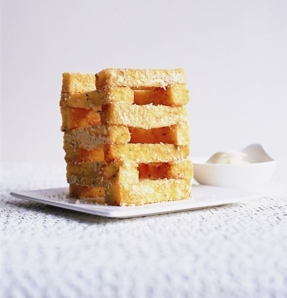Rosemary And Butternut Squash Polenta Chips, i think i'll bake it, i never ever fry :)