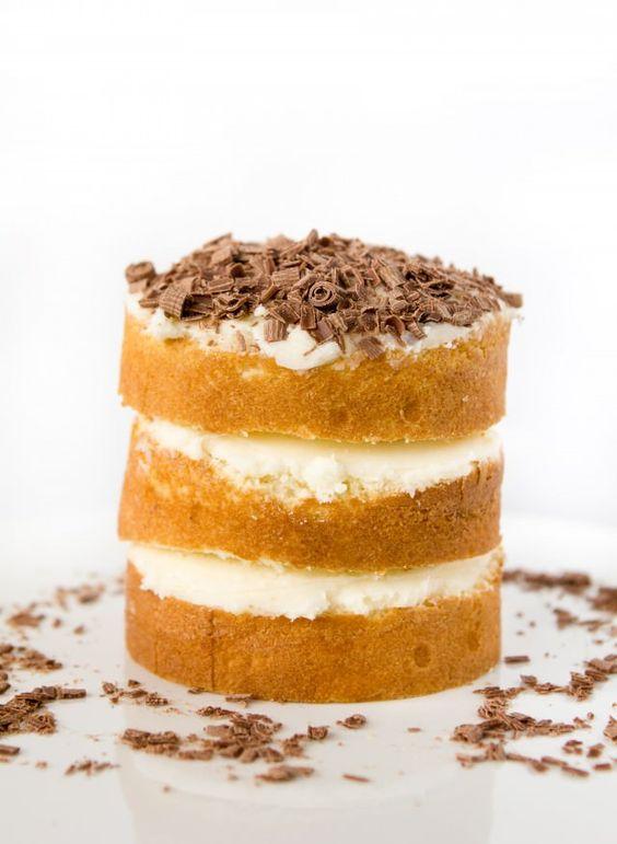 Mini Stacked White Cake