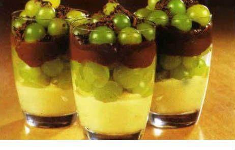 Foto da Receita de Bombom de uva na taça