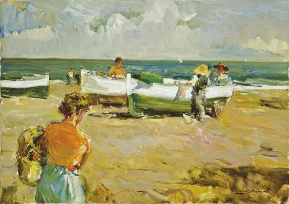 Barcas en reposo. Luis Giner Bueno