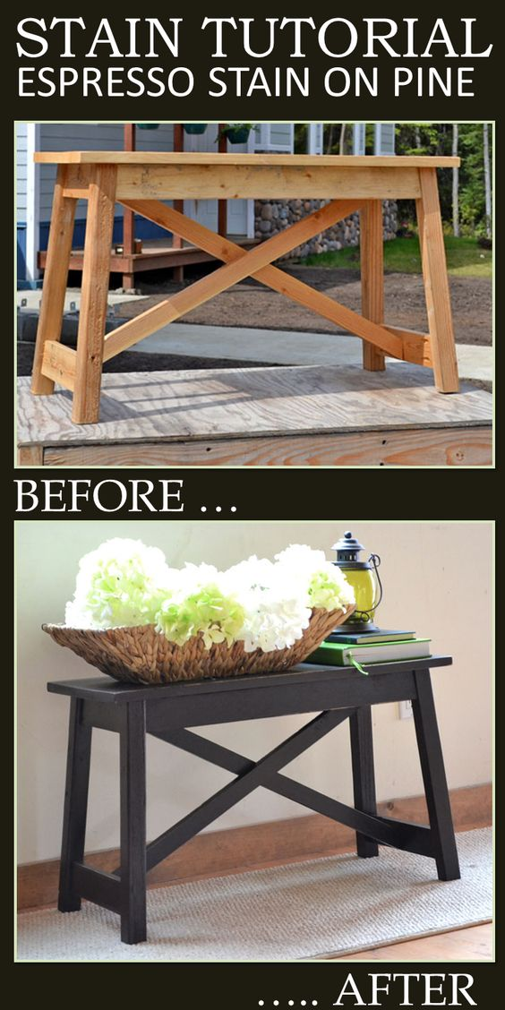 A Great Tutorial On Using Minwax Gel Stain To Give Pine An