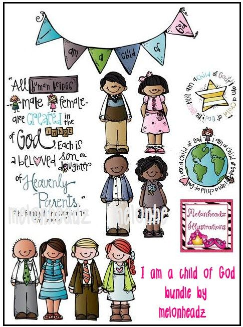 I am a child of God clip art   Niños, Etsy y Dios