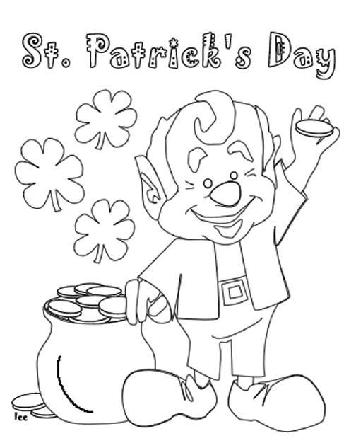 St Patricks Day Coloring Pages For Kids Printable St Patrick Day Activities Coloring Pages For Kids St Patricks Activities