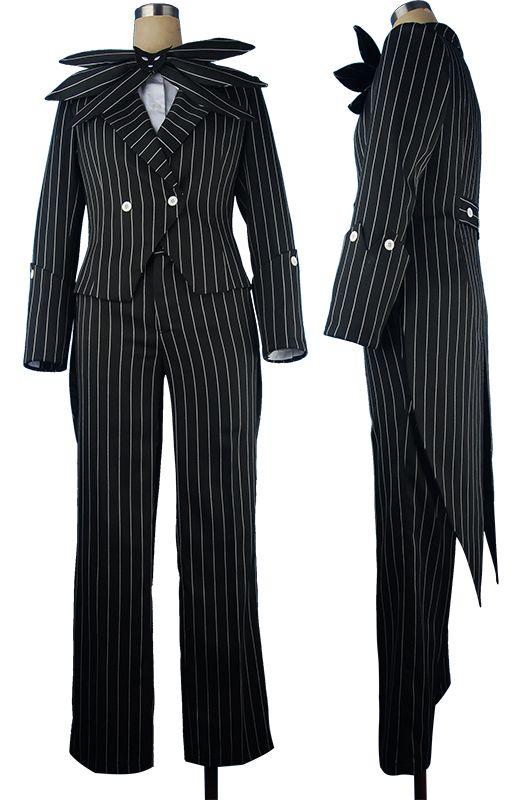 The Nightmare Before Christmas Cosplay Jack Skellington Stripe Costume Cool