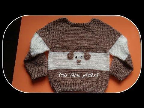 Blusa Em Croche Infantil Tamanho 2 3 Anos 1 2 Super Facil