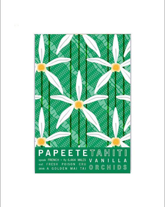 Papeete Tahiti Travel Poster