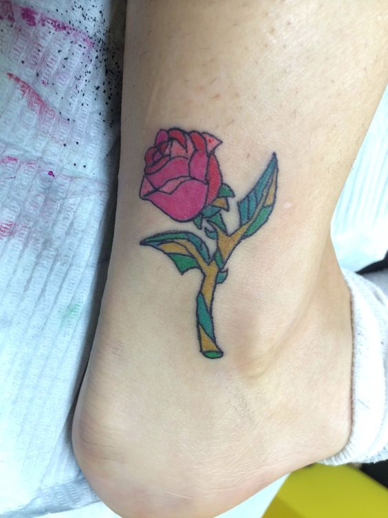 Beauty and the beast rose tattoo tattoo pinterest - Acheter la rose de la belle et la bete ...