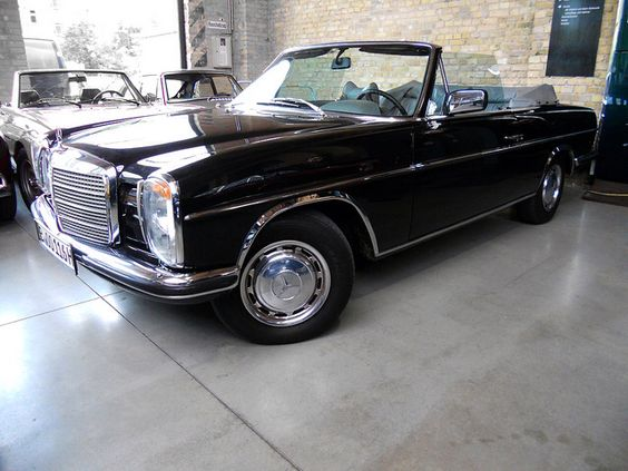 mercedes benz w114 convertible reminds me of an old rolls royce corniche old school. Black Bedroom Furniture Sets. Home Design Ideas