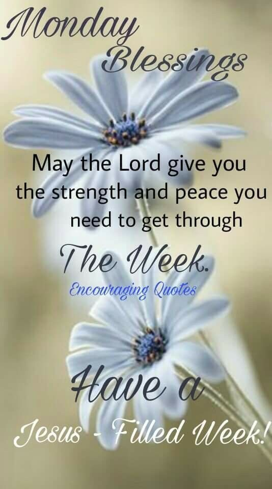 May The Lord Give You The Strength And Peace You Need To Get Through The Week Happy Monday Quotes Monday Blessings Monday Morning Quotes