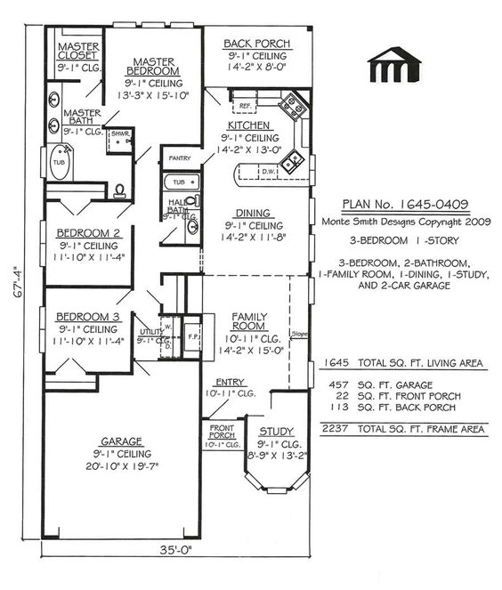 5 Ideas For A One Bedroom Apartment With Study Includes Floor Plans: House Plans, Apartment Plans And Garage Apartment Plans On Pinterest