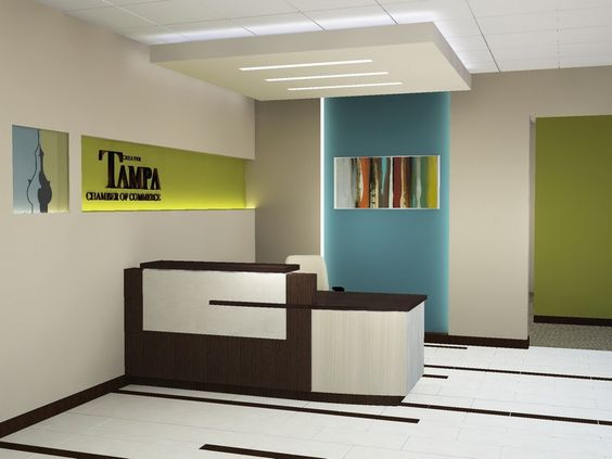 Furniture, Modern Reception Desk Layout Ideas: The Modern and ...
