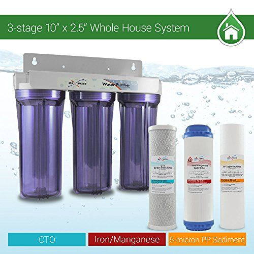 Apex 2 Stage Whole House Water Filtration System W Kdf Removes Chlorine Chloramine Sediment Water Filtration Water Filtration System Sediment