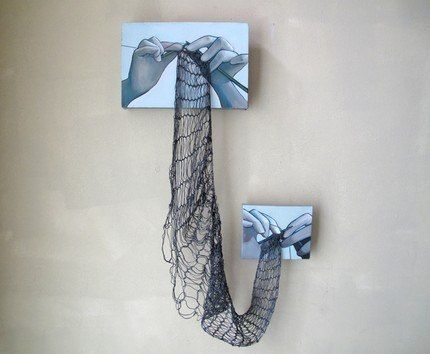 knitting wall art