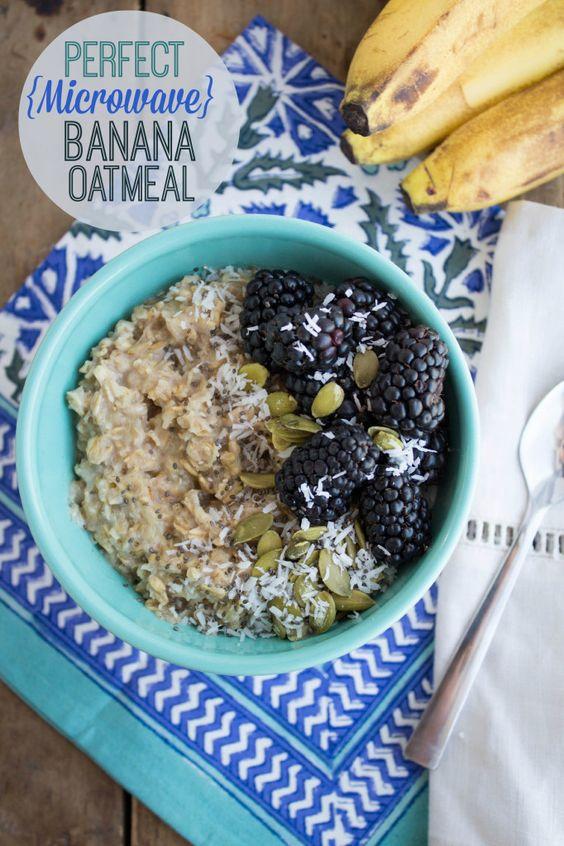 perfect microwave banana oatmeal recipe: Breakfast Ideas, Banana Oatmeal Microwave, Overripe Banana Recipes Easy, Overripe Bananas, Delicious Fannetasticfood, Easy Breakfast, Breakfast Recipes, Oatmeal Recipes