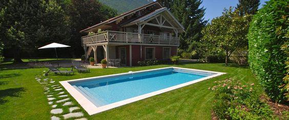 amenager-autour-piscine-gazon   jardin   Pinterest   Piscines ...