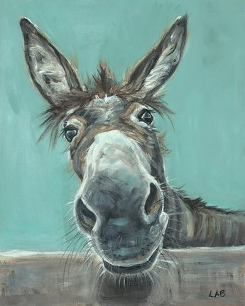 'Well Hello There' by Louise Brown Painting Print on Canvas
