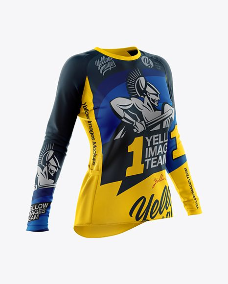 Download Women S Cycling Jersey Mockup Half Side View In Apparel Mockups On Yellow Images Object Mockups Shirt Mockup Design Mockup Free Clothing Mockup