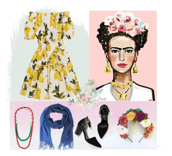 fantasia frida by gabrielle-bianchi on Polyvore featuring moda, Dolce&Gabbana, Cherryville and Forte Forte: