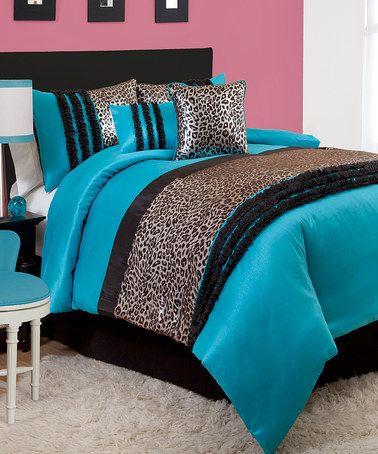 Another great find on #zulily! Black & Blue Kenya Juvy Comforter Set #zulilyfinds