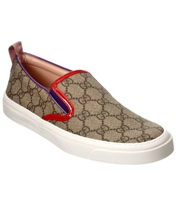 GUCCI Gucci Gg Supreme Canvas Slip-On Sneaker'. #gucci #shoes #shoes