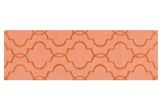 "One Kings Lane - Runners for Every Room - 2'6""x8' Amy Runner, Peach"