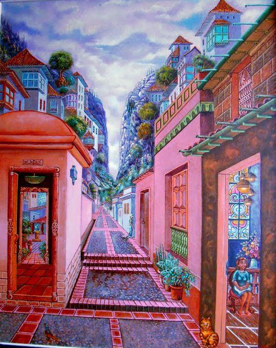 .Giron Santander, en tiempos futuros. Oil on canvas.