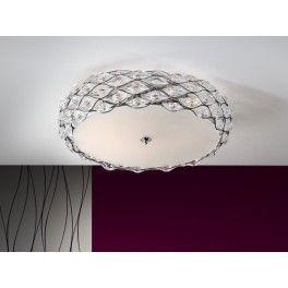 Plafón de techo Moderno Redondo 6 luces Cromo Sibila. #iluminacion # tienda #online