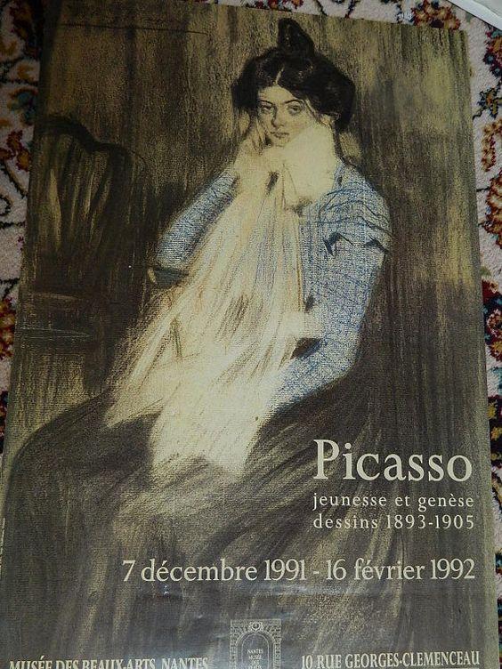 PICASSO  AFFICHE exposition 1992 POSTER par vintagemadeinFRANCE