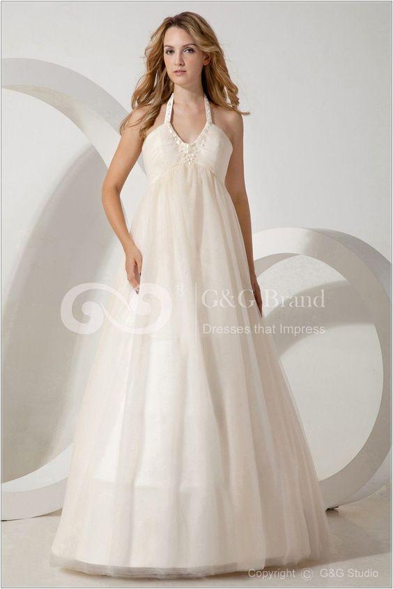Plus Size Wedding Dresses Under 100 V Neck White Wedding Dresses ...