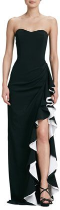 Badgley Mischka Strapless Colorblock Gown | #Chic Only #Glamour Always