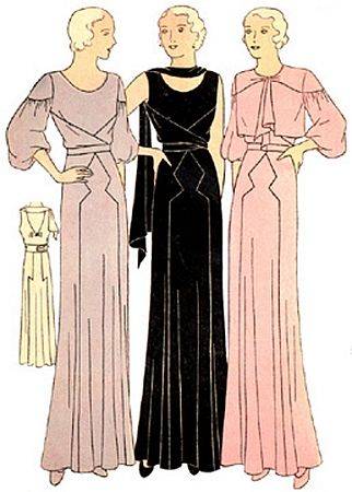 1930 Ladies Evening Gown In Two Styles