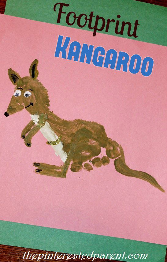 Footprint crafts, Footprint and Kangaroos on Pinterest