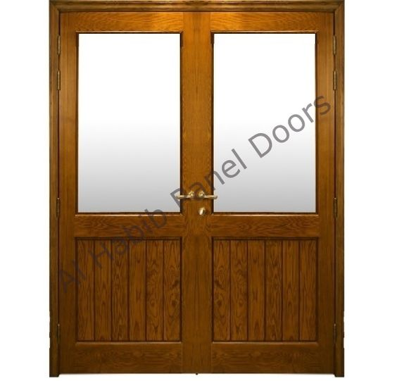 Double doors panel doors and glass panels on pinterest - Solid core interior doors dallas ...