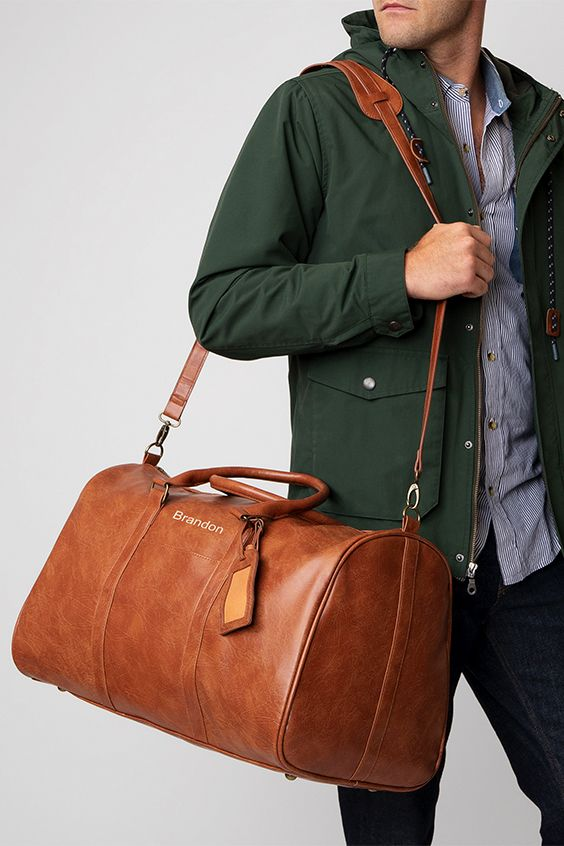 Personalized Vegan Leather Transport Duffle In 2020 Personalized Duffle Bags Vegan Leather Duffle