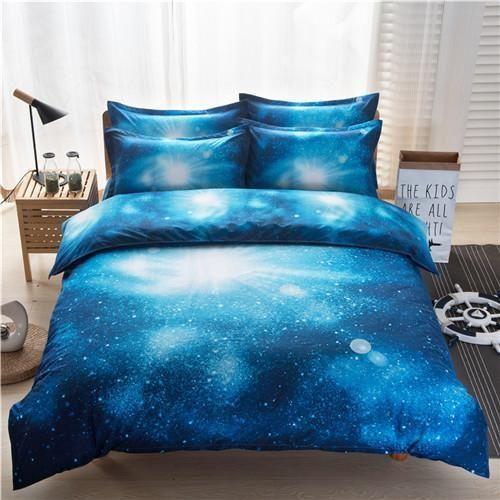 3d Galaxy Duvet Cover Set Single Double Twin Queen 2pcs 3pcs 4pcs Bedding Sets Universe Outer Space Themed B In 2021 Galaxy Bedding Duvet Bedding Sets Duvet Cover Sets