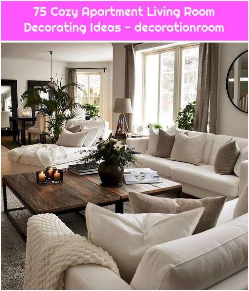 75 Cozy Apartment Living Room Decorating Ideas Decorationroom In 2020 Living Room Decor Apartment Apartment Living Room Farm House Living Room