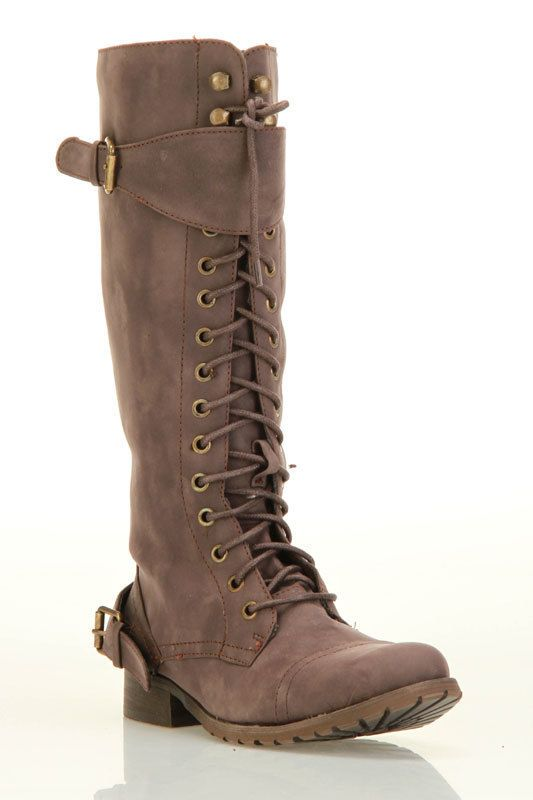 Bucco Beth Boots In Brown Don't worry, there is a zipper too :) Loving these for Fall and Winter! $39.99 - I might just have to get these.