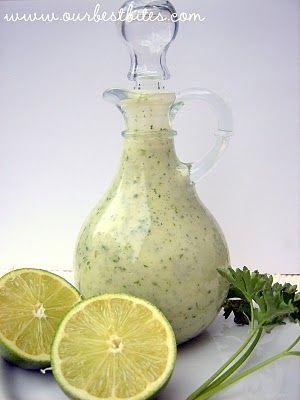 Cilantro-Lime Vinaigrette    1/4 c. fresh lime juice (about 2-3 juicy limes)  1/4 c. white wine vinegar or rice vinegar  4-5 cloves garlic  1/2 tsp. Kosher or sea salt  2 tsp. sugar  1 c. canola oil  1/2 c. roughly chopped cilantro, stems removed